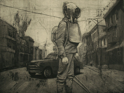 """""""Auto-Graph"""", etching, aquatint and ImagOn, 2009"""
