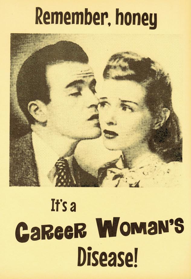 """""""Career Woman's Disease,"""" Screen print, 2019"""