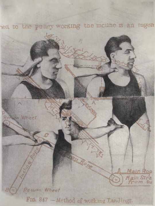 """""""Points of Pressure"""", color lithograph, 2009"""