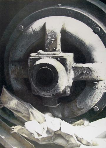 """""""Dormant"""", color stone lithograph, 2006"""