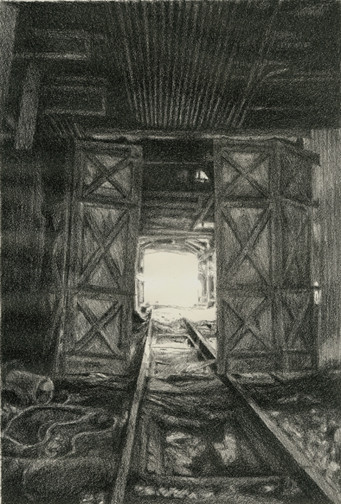 """""""Opening Light"""", stone lithograph, 2007"""