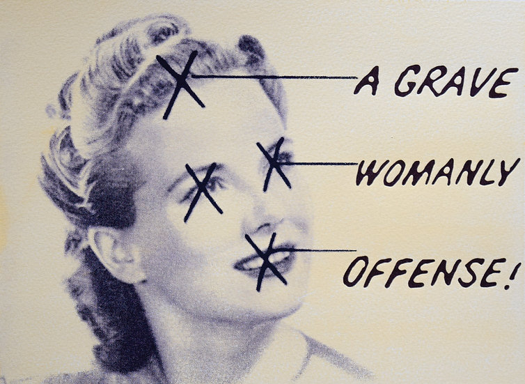 """""""A Grave Womanly Offense,"""" framed and unframed"""