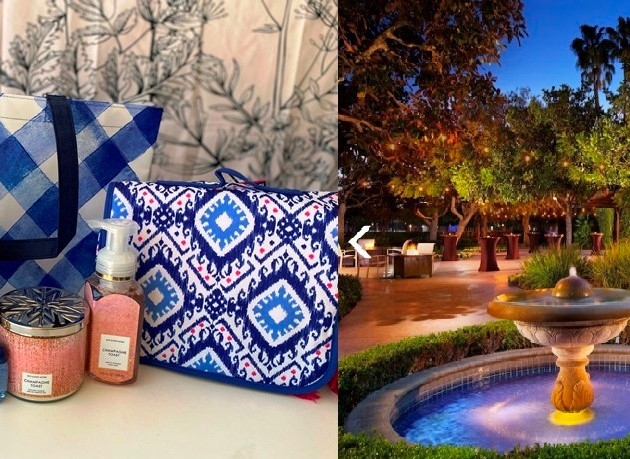 15.  Sheraton Cerritos Hotel and Eight Bath & Body Works items.