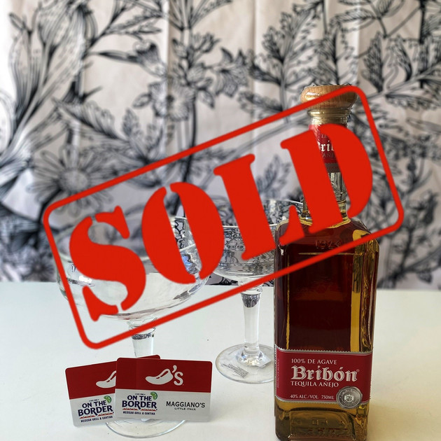 13. Bribon Tequila Anejo with $50 total in Gift Cards