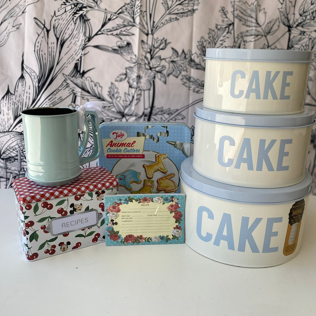 8.  Blue Stackable Cake Tins