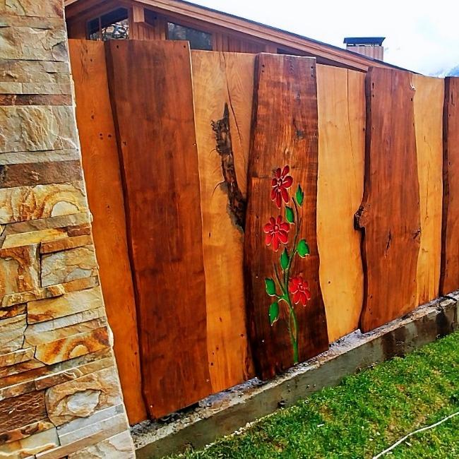 Забор из доски