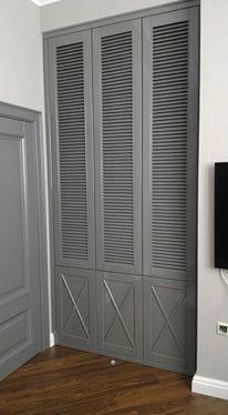Встроенный шкаф с жалюзи