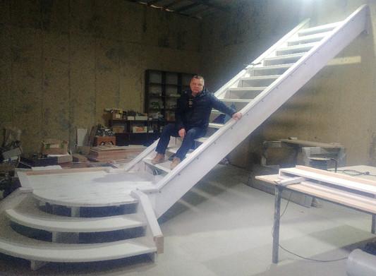 Сборка лестницы