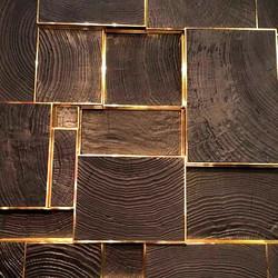 Спилы дерева и металл