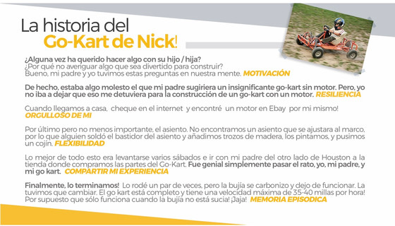El go cart de Nick