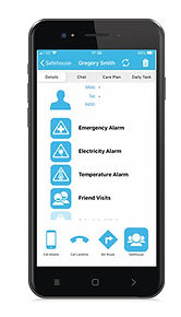 Safehouse mobile phone app