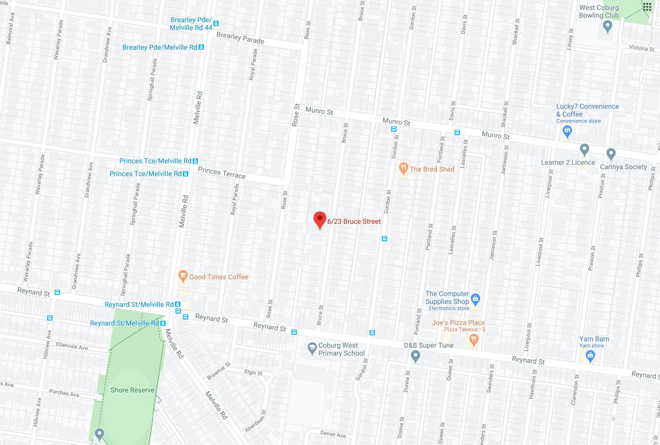 6/23 Bruce St Map