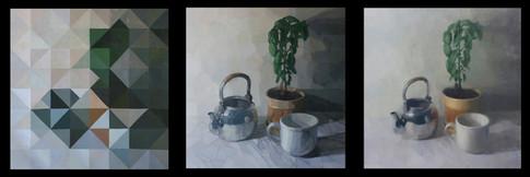 Basil Plant Still Life