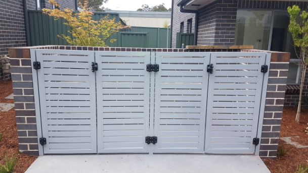 Slat Door Bin Enclosure