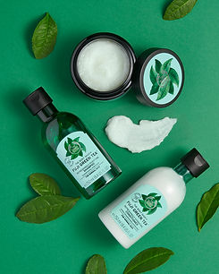 Bodyshop_Fuji green tea hair care range.