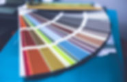 Palette de couleurs de peinture