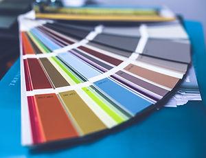 Paleta de colores de pintura