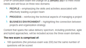 ANNOUNCEMENT: Updated Changes to the PMP Exam in 2021