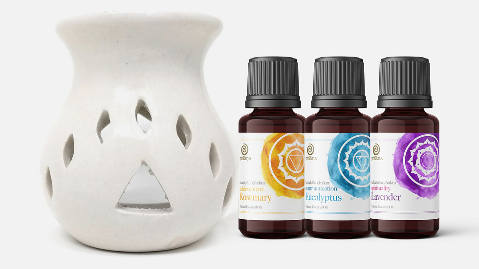 CREATION: Rosemary, Eucalyptus & Lavender Essential Oils with Diffuser
