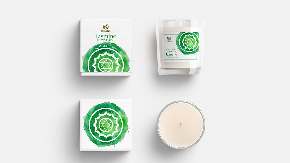 COMPASSION: Jasmine Oil Infused Soy Candle (Anāhata Chakra)