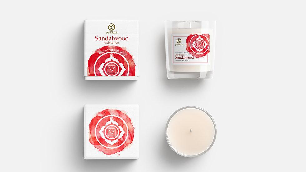 EXISTENCE: Sandalwood Oil Infused Soy Candle (Mūlādhāra Chakra)