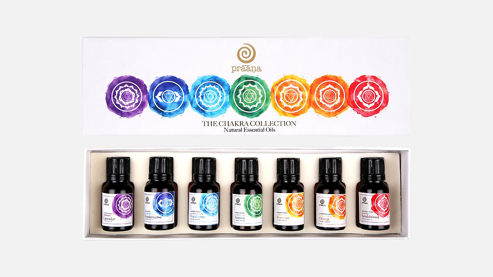 Chakra Collection (Set of 7 Natural Essential Oils)