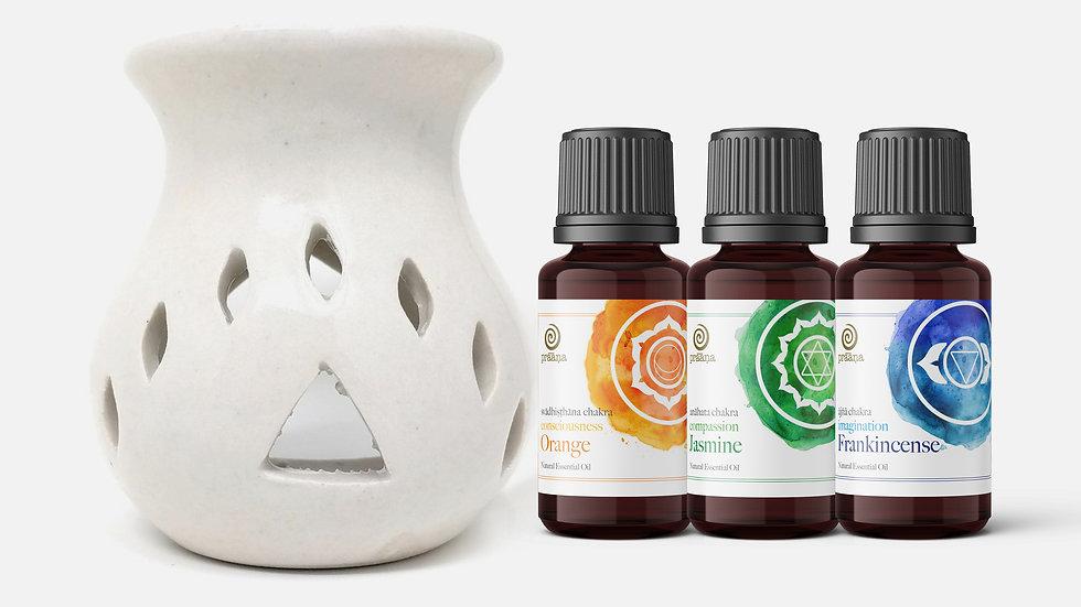 AWARENESS: Orange, Jasmine & Frankincense Essential Oils with Diffuser