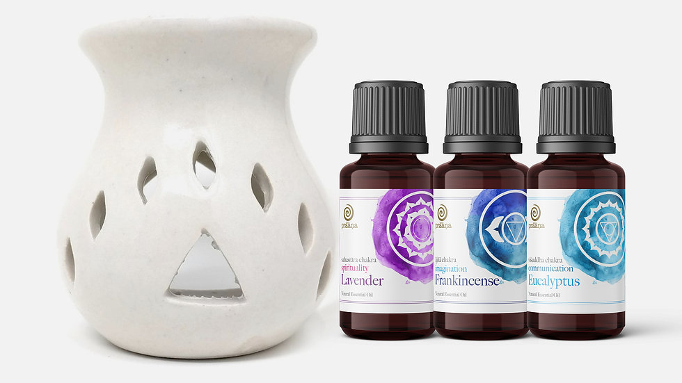 SPIRIT: Lavender, Frankincense & Eucalyptus Essential Oils with Diffuser