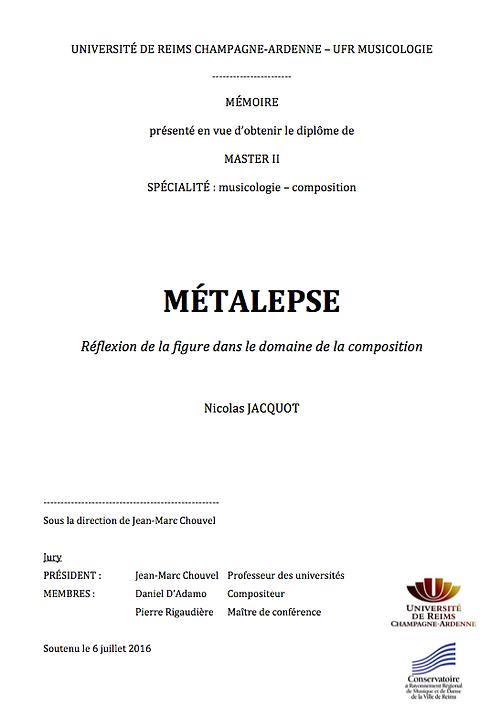 nicolas jacquot compositeur métalepse