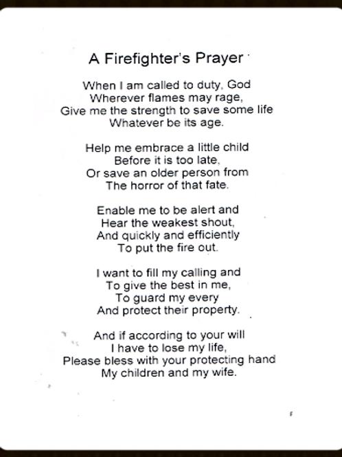 A Firefighters Prayer