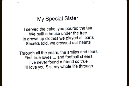 My Special Sister