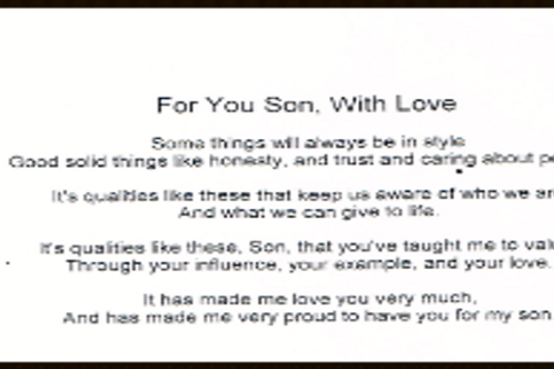 For You Son With Love