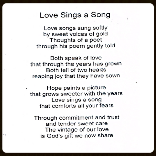 Love Sings a Song