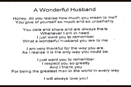 A Wonderful Husband