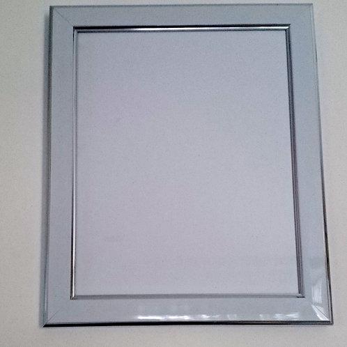 White & Silver 8 x 10