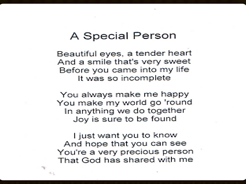 A Special person
