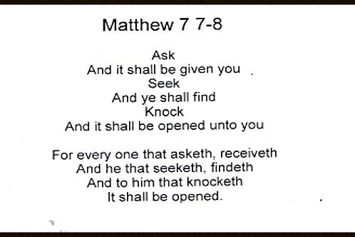 Mathew 7 7-8