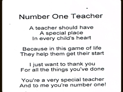 Number one Teacher