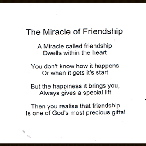 The Miracle of Friends