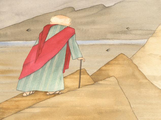 Biblia, Moisés mirant la terra promesa