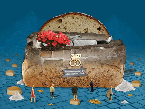 Bageren er desværre død, så nu bager han ej brød