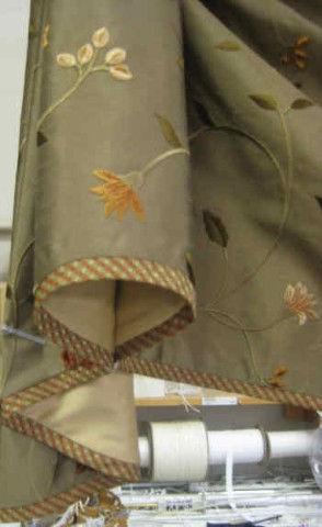 Bias Cut Fabric Banding Detail on Valence