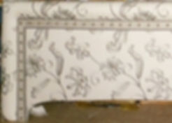 Shaped Cornice with Banding Sample