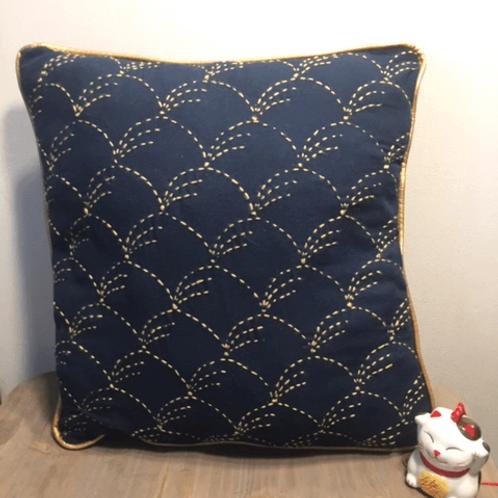 Coussin sashiko