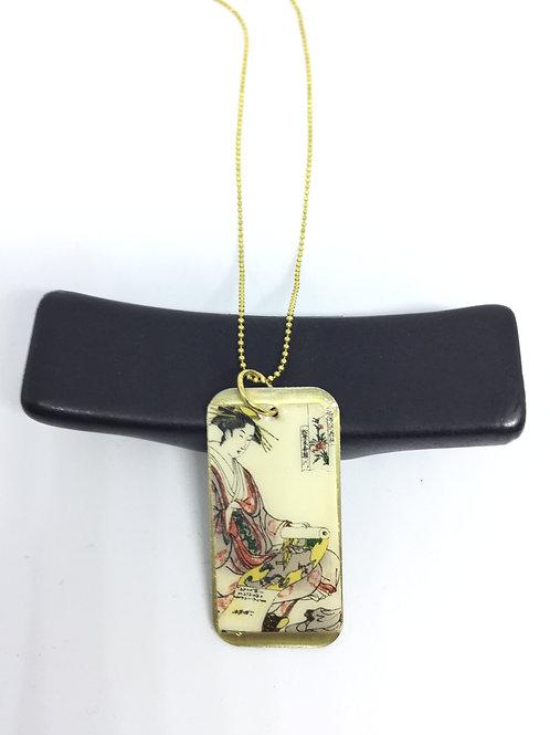 Collier en laiton papier japonais