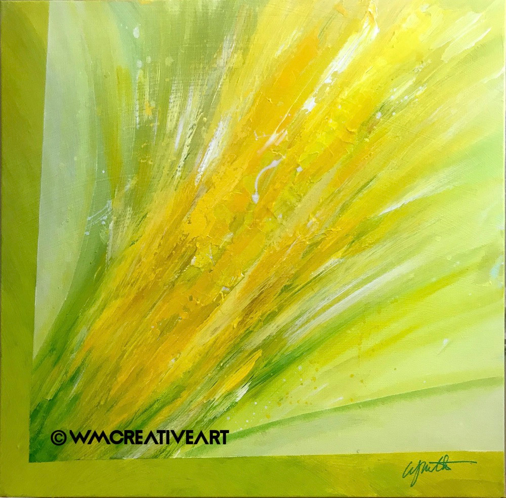 Original abstract acrylic artwork on level 3 stretched canvas.