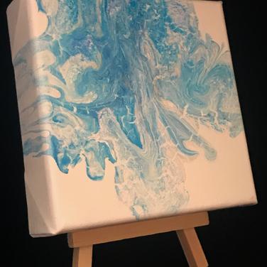 Aquamarine on Easel
