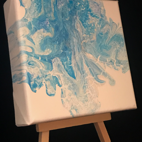 Aquamarine on Easel