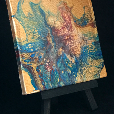 Blue Flame on Easel