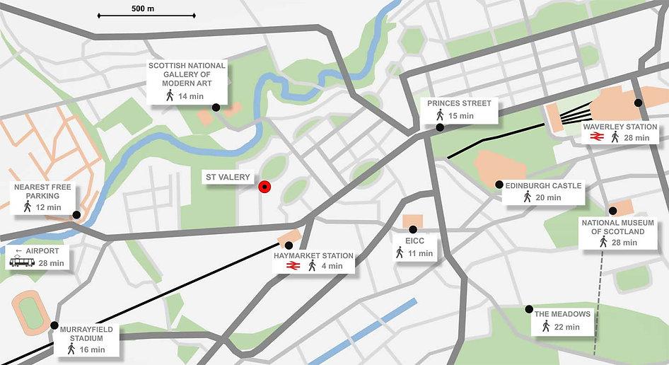 St Valery Guest House - Edinburgh Map